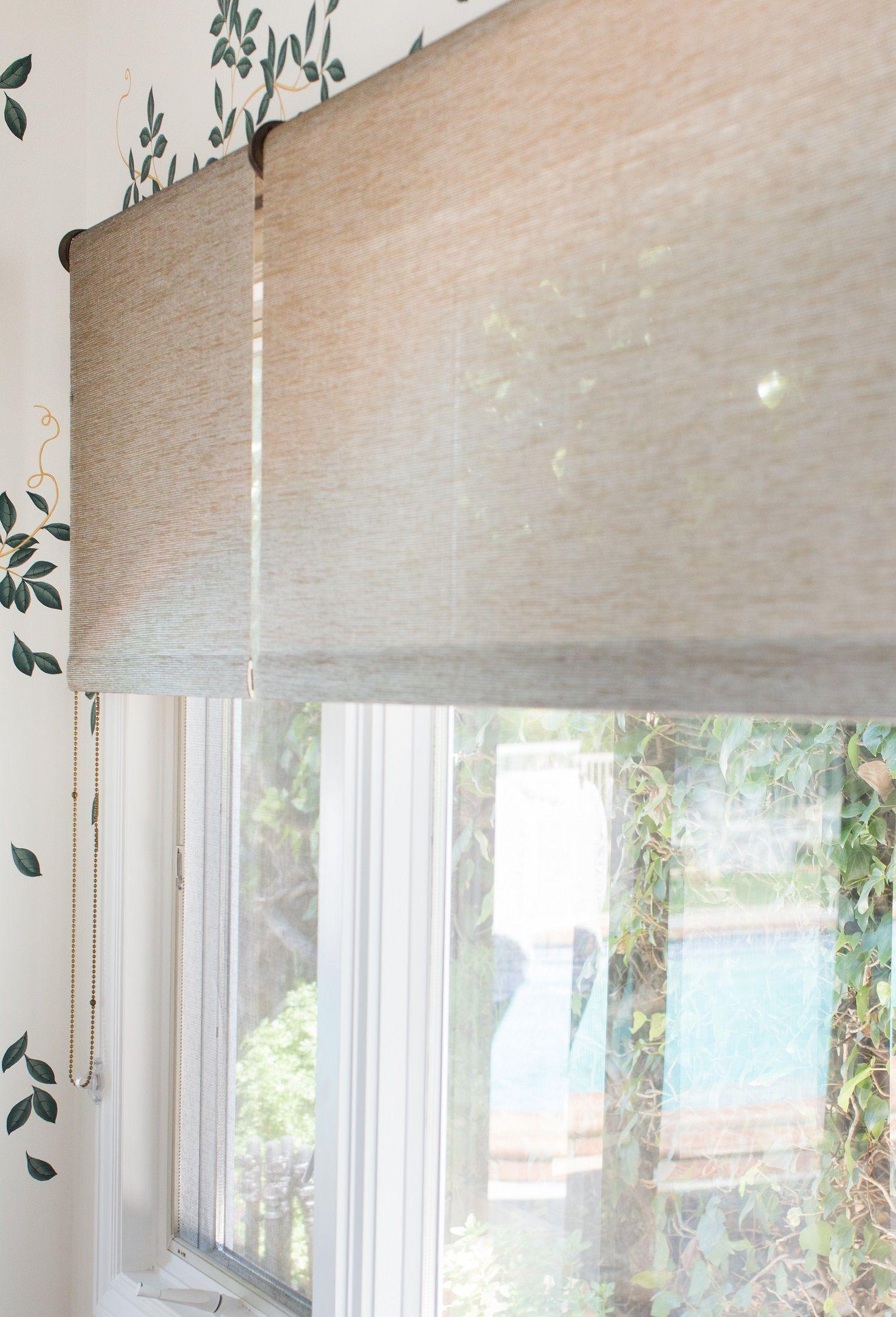 Natural Woven Shades Marie Flanigan Interiors Roller Shades Living Room Woven Shades Custom Window Shade