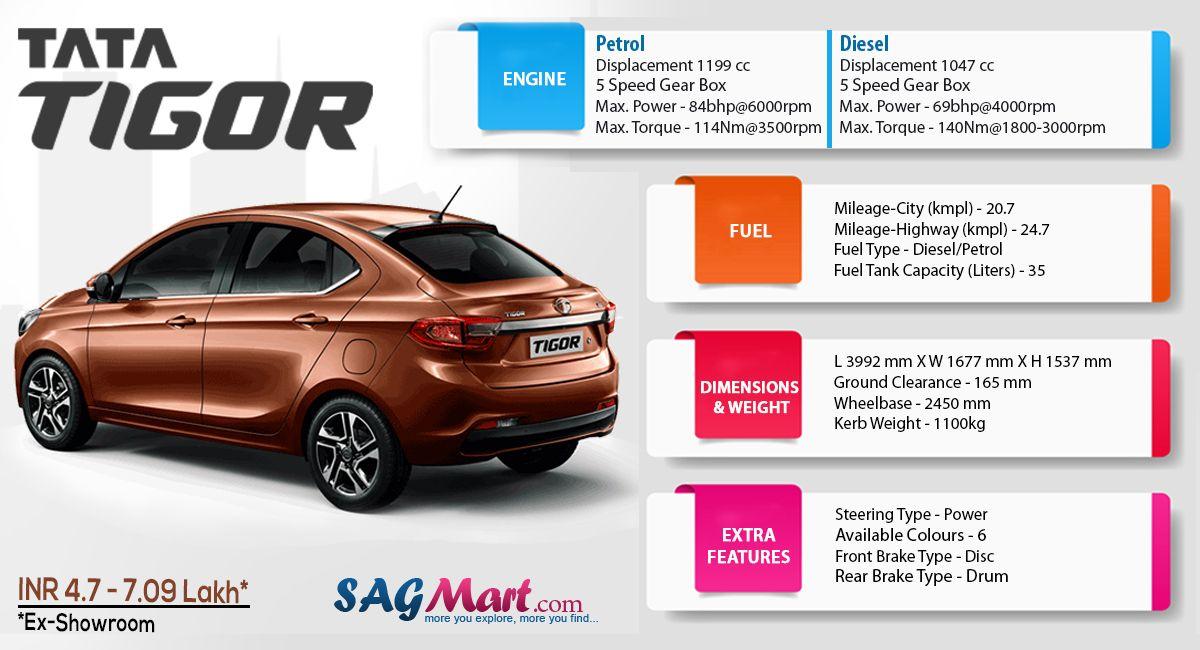 Tata Tigor Model: Power, Mileage, Safety, Colors   Hatchback