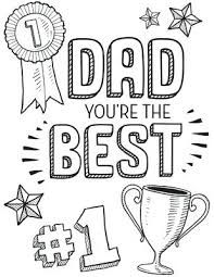 Risultati Immagini Per Fathers Day Cards To Color And Print