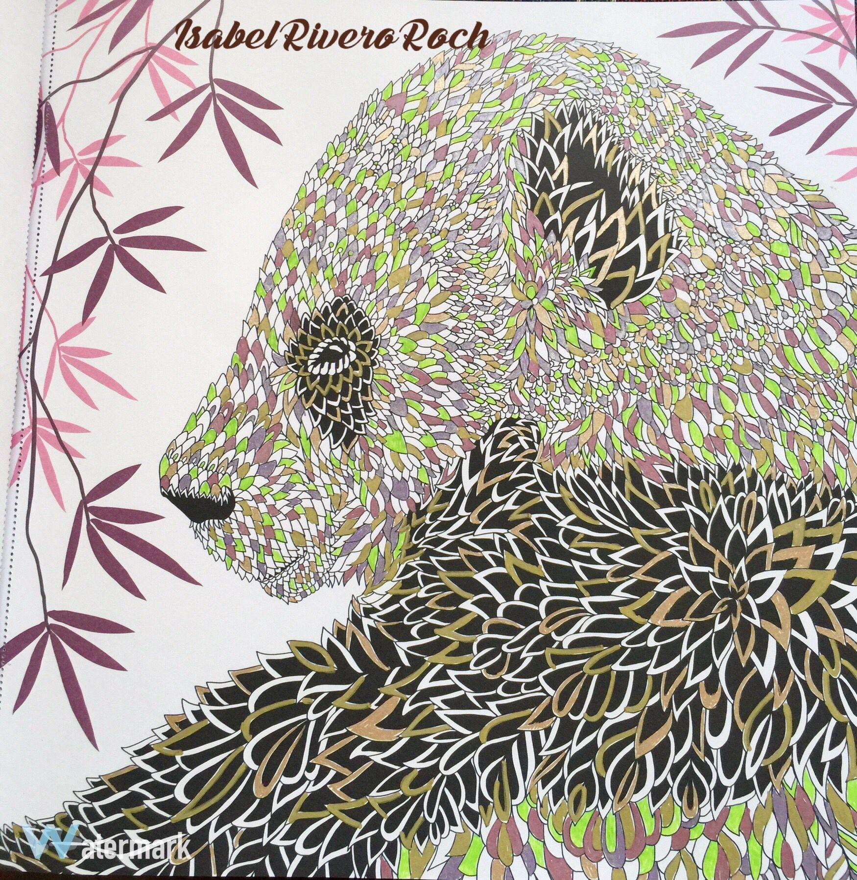 Themenagerie Colorist Isabel Rivero Roch Kleurboek Dieren Kleurinspiratie