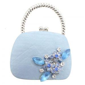 Modrý Lady kabelky Swarovski Crystal Pin brož