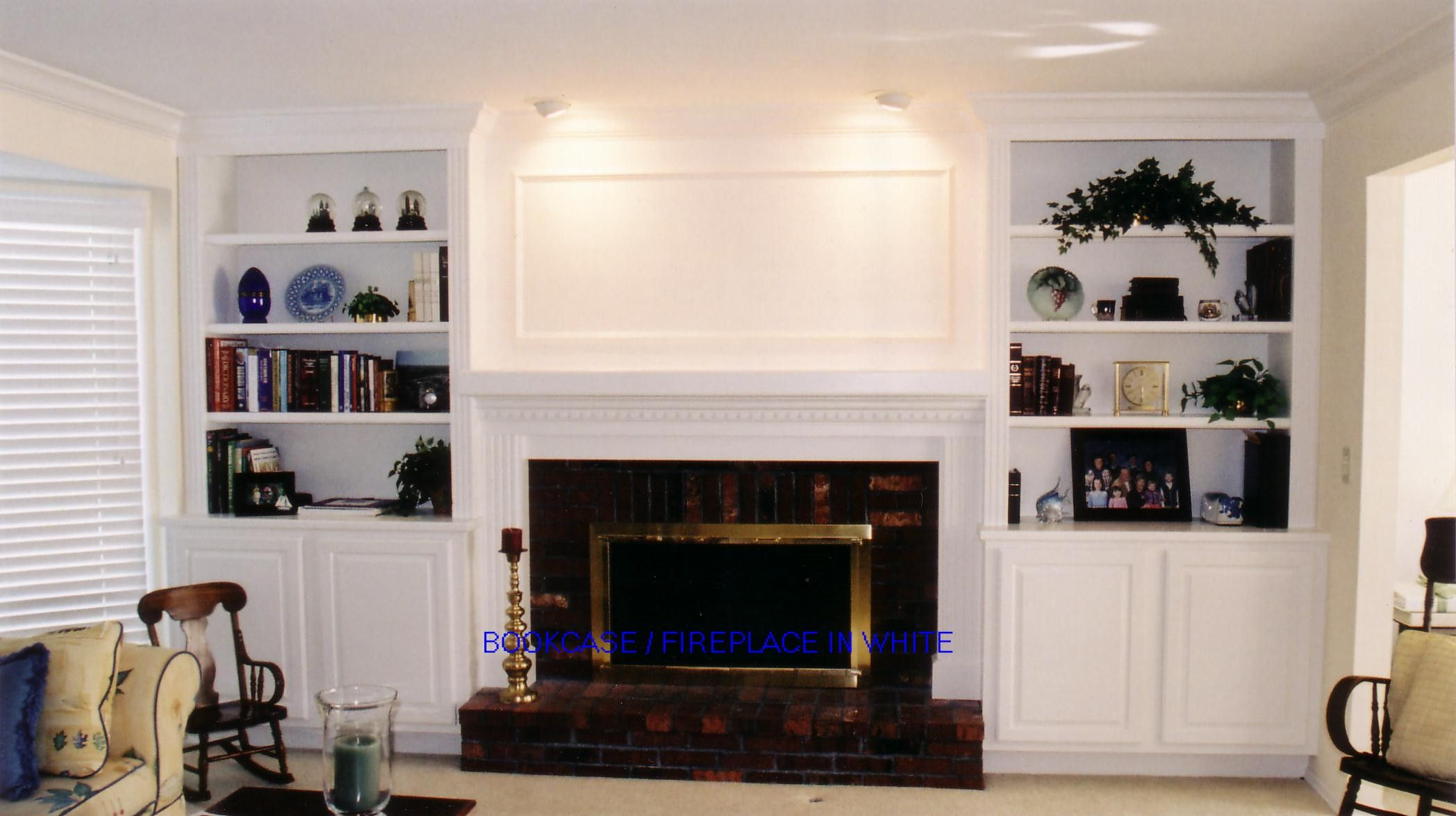 Built In Bookcases Around Fireplace To See Full Screen Size
