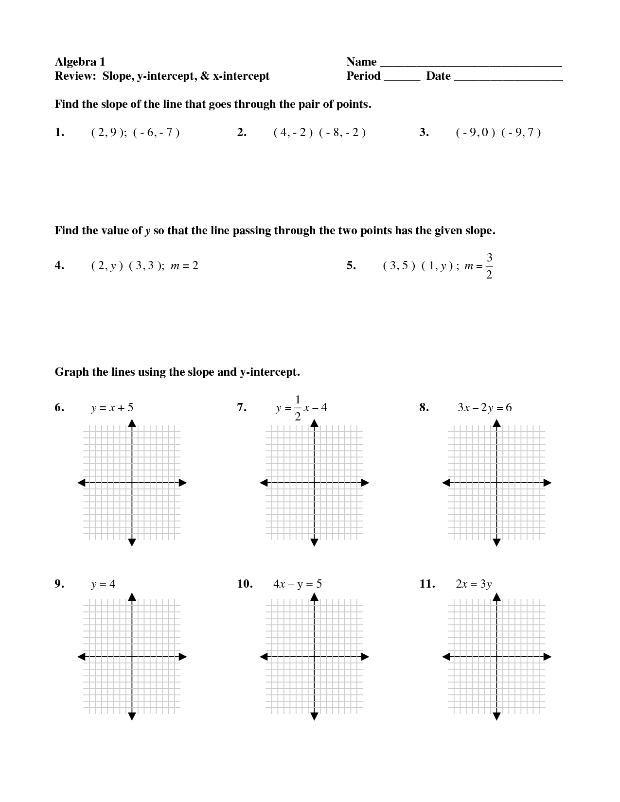 small resolution of 15 Best Images of Finding Slope Worksheets Given Points PointSlope Form Practice  Worksheet - Amazing 1…   Practices worksheets