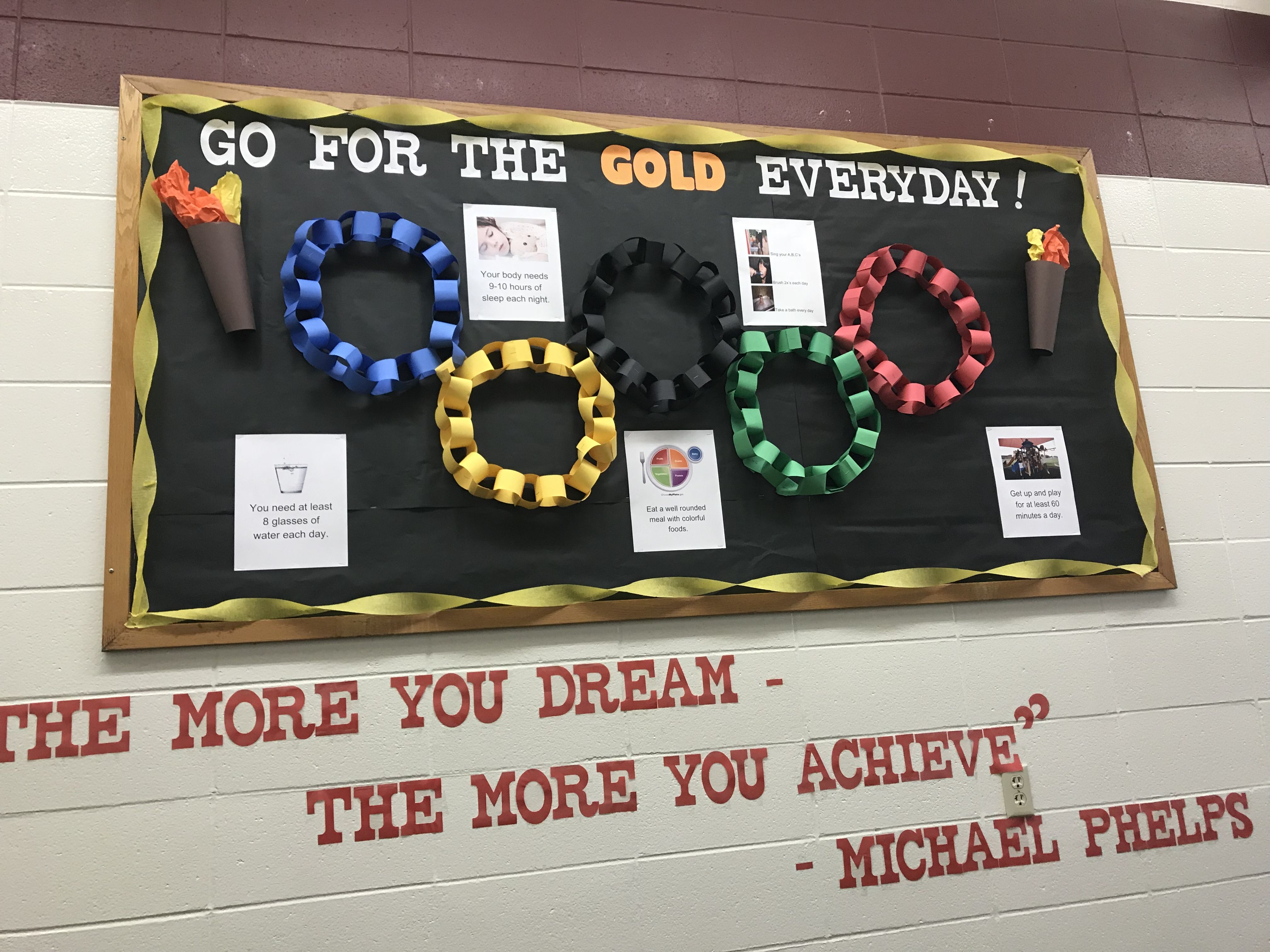 stunning Olympic Bulletin Board Ideas Part - 12: Wellness centered Olympic themed bulletin board