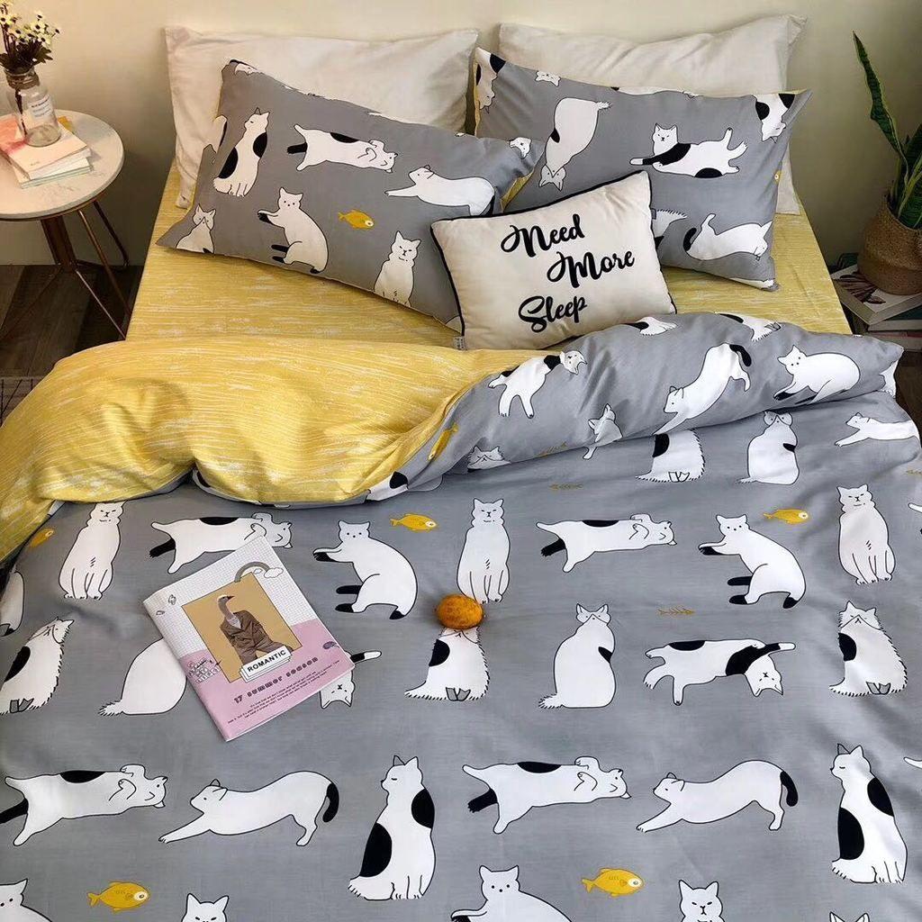 Harajuku Cats Bedding Set Decoracao De Camas Decoracao De Quarto Moveis Para O Corredor