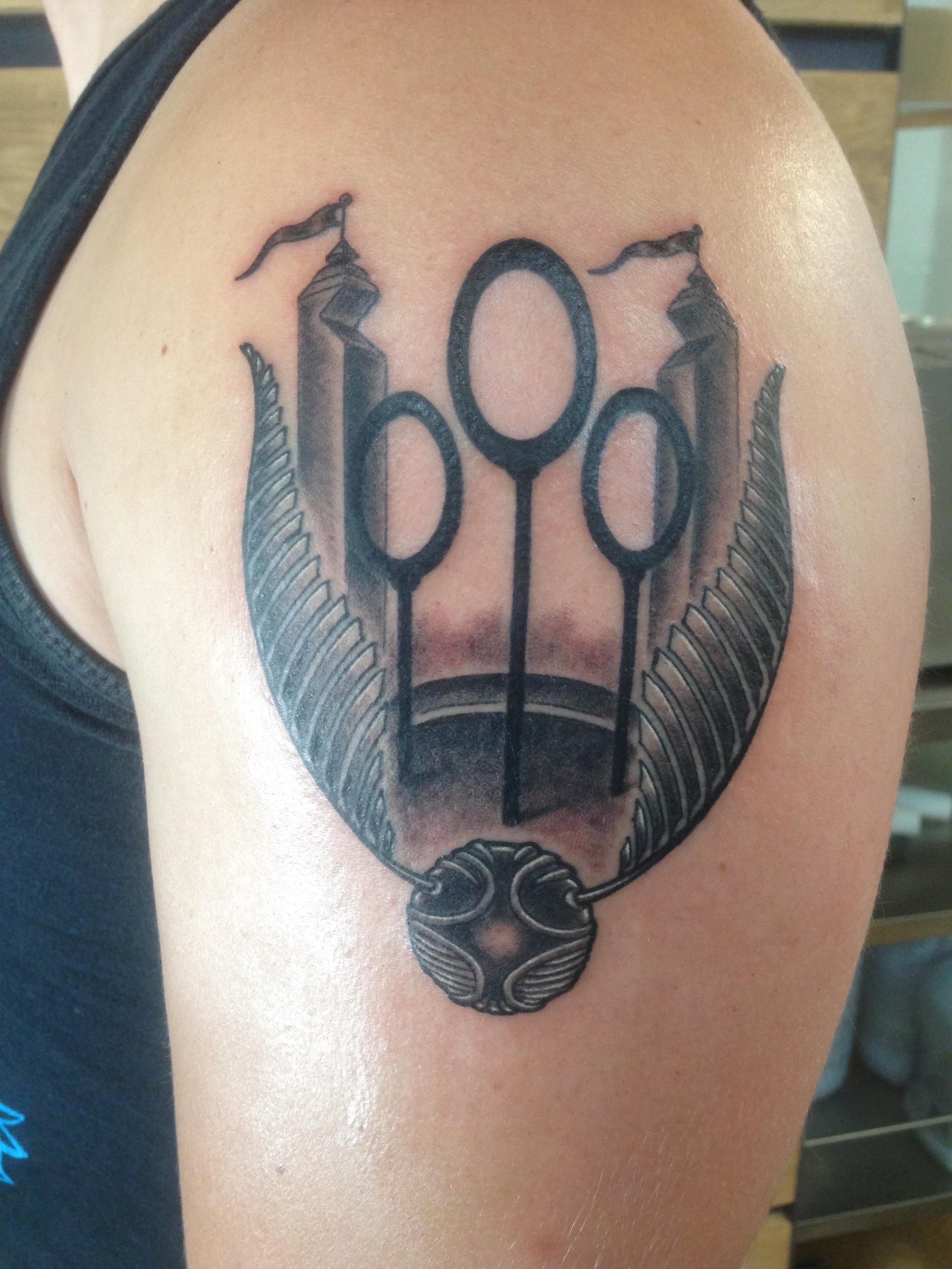 My Quidditch Tattoo By Jake B At Golden Rule Tattoo Phoenix Az
