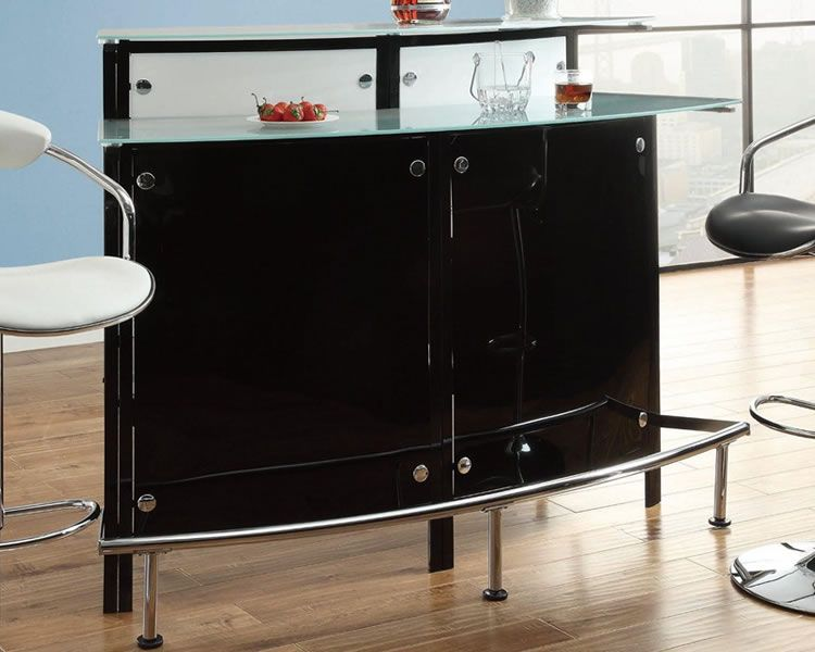 small corner bar tabl | Modern Black Free Standing Corner Bar Unit : corner pub table sets - pezcame.com