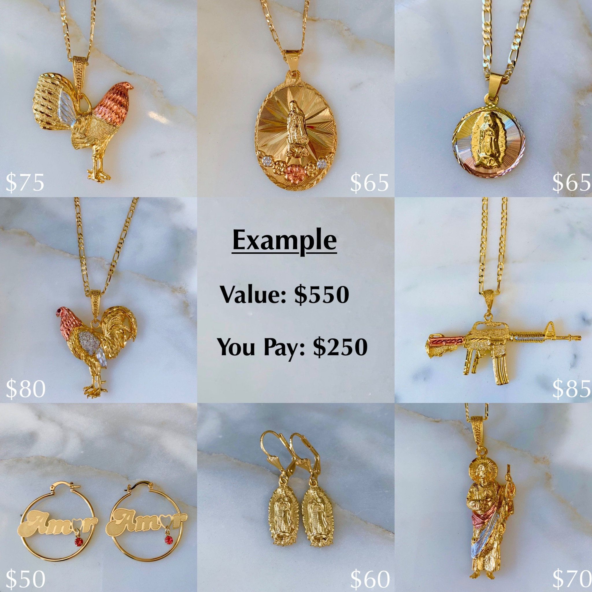 Mystery Packages Of Gold Dipped Jewelry At Half The Price