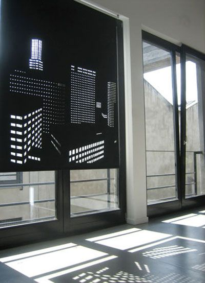 black out roller blinds with lasercut perforation