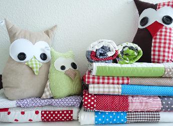 owls - pillows for kiddies