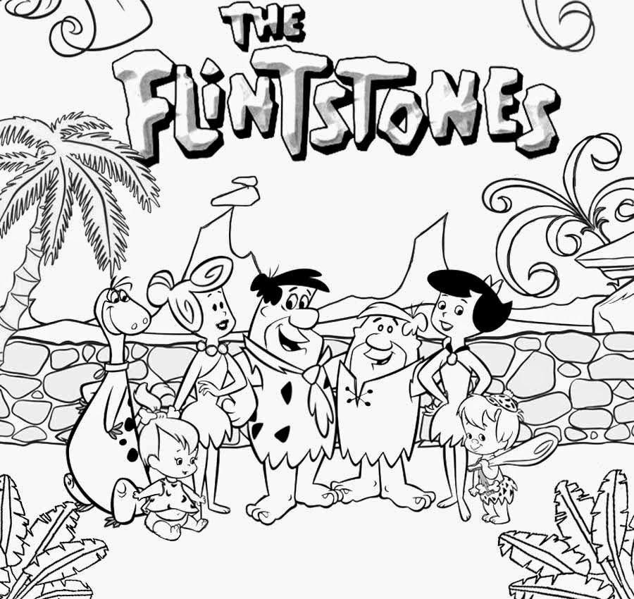flintstones coloring pages # 4