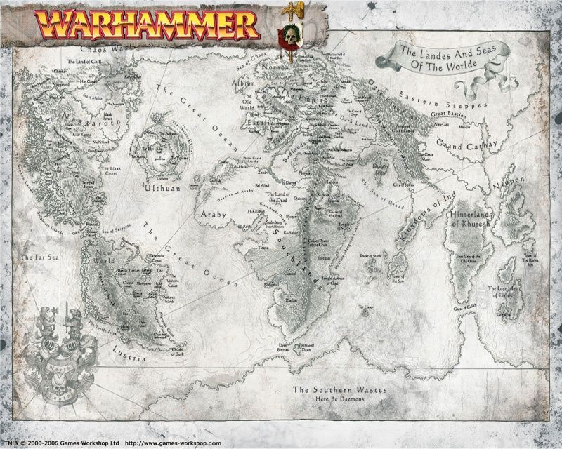 Warhammer world map - a Fantasy world very clearly based around - new google world map printable