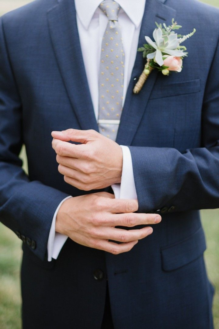 Charming Summer Camp Wedding from Carrie King - boutonniere