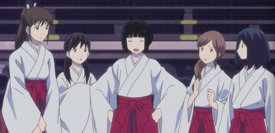 Mayu And Tenjin Sisters At Noragami Noragami 140105 Noragami