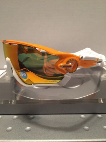 b5aedd9718 Oakley Jawbreaker Atomic Orange Fire Iridium Polarized 9290-09 NEW Fast  Free S H