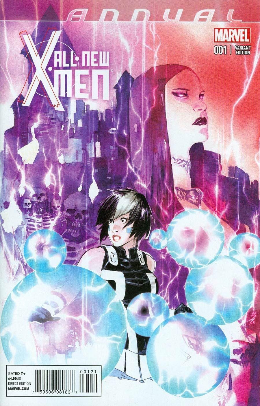 All New X Men Annual 1 Cover B Variant Dustin Nguyen Cover Secret Life Of Eva Bell Part 2 Midtown Comics X Men Marvel