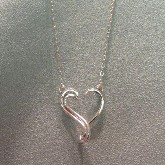 Superieur Keepsake Open Heart Ring Holder Necklace Silver By JJDLJewelryArt