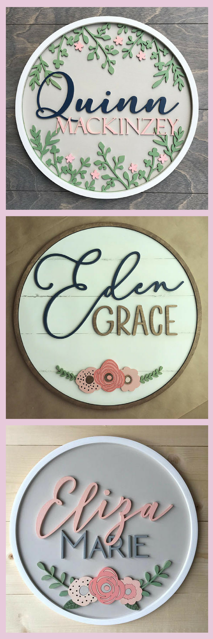 These Are Beautiful Custom Round Name Sign Home Decor