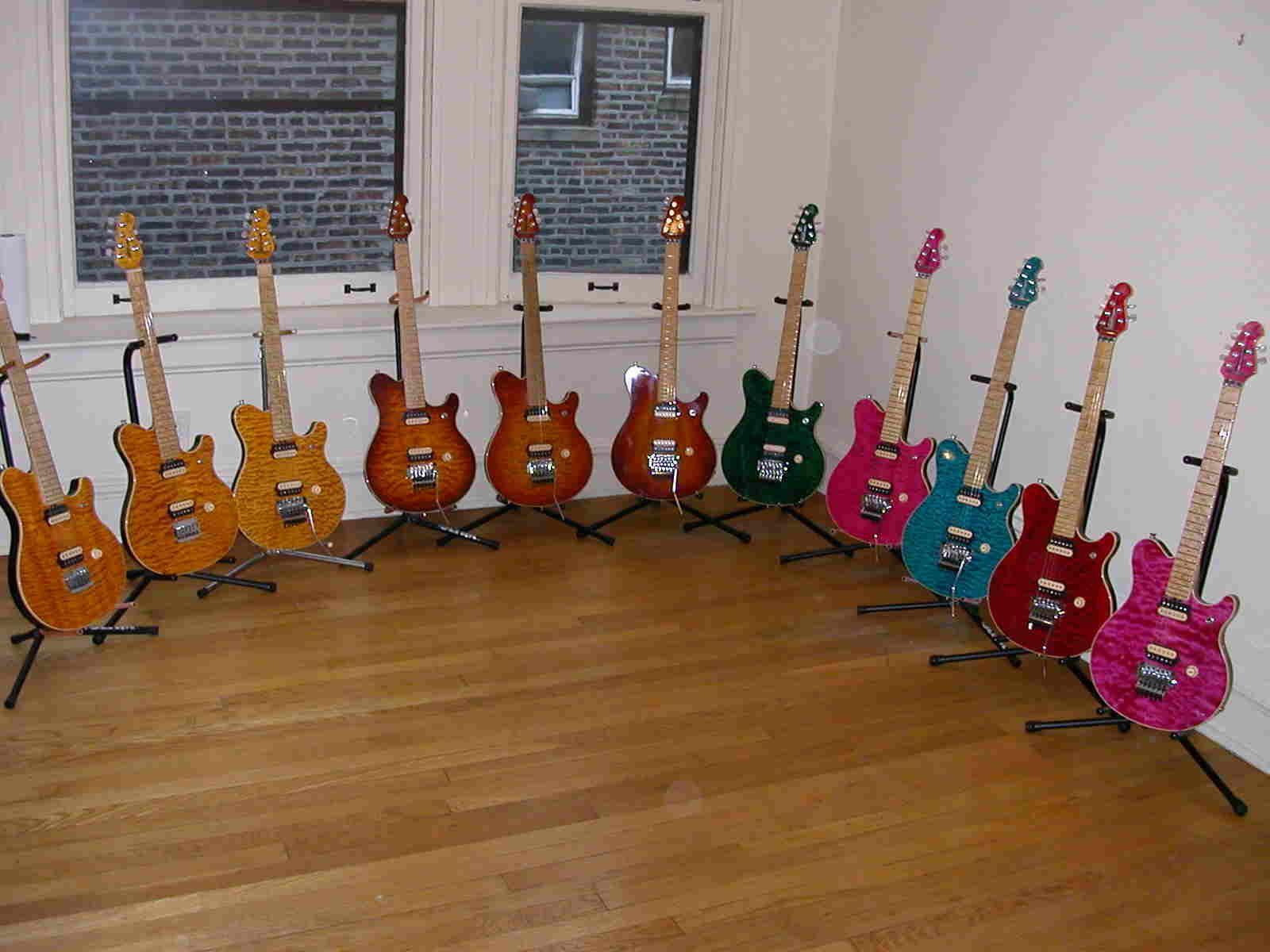 Fender Noiseless Pickups >> Room full of EVH Ernie Ball Music Man guitars | Guitars ...