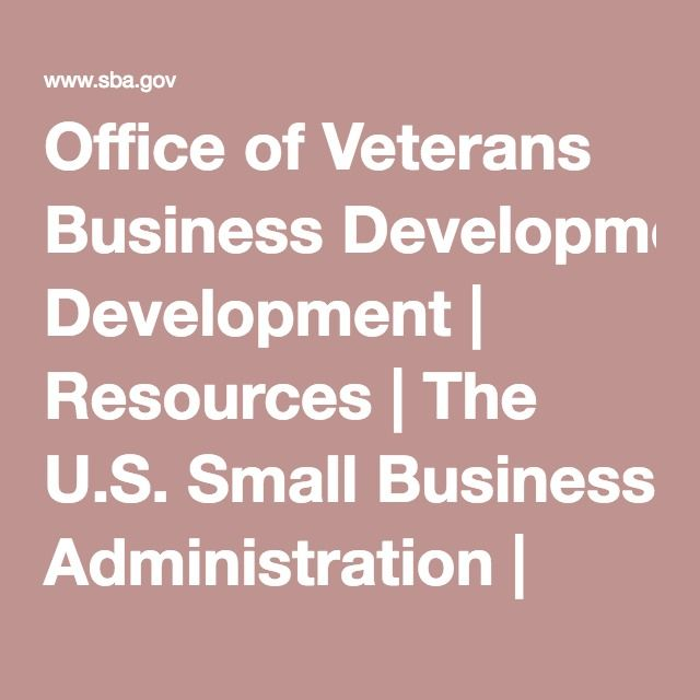 Office of Veterans Business Development | Resources | The ...