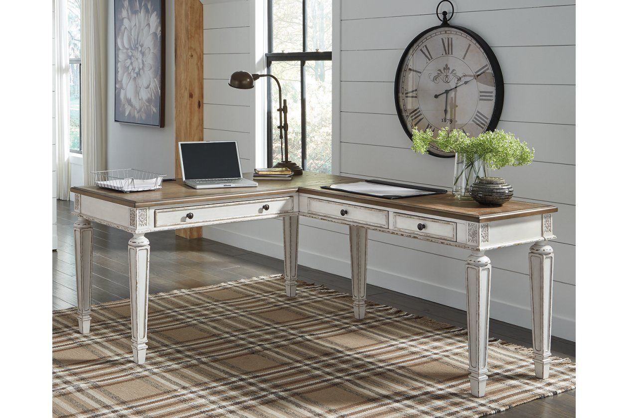 Realyn 2Piece Home Office Desk (With images) Home
