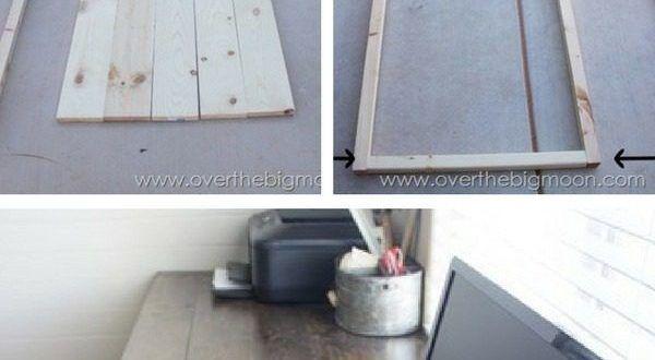 Come costruire una scrivania #DIY da schedari e tavole di ...