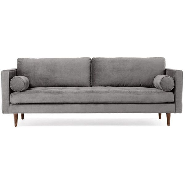 Joybird Briar Mid Century Modern Gray Sofa 1 279 Liked On Polyvore Featuring Home Mid Century Modern Sofa Mid Century Style Sofas Mid Century Modern Couch