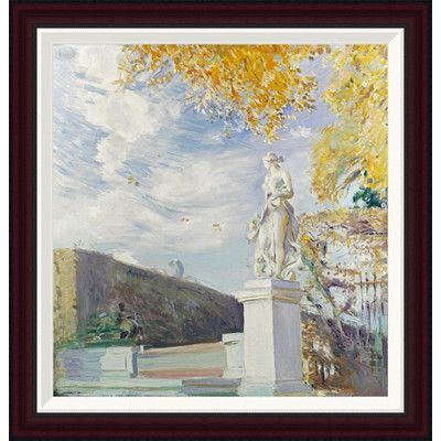 Global Gallery A Statue of Venus In The Garden of Versailles by Paul Cesar Helleu Framed Painting Print Size:
