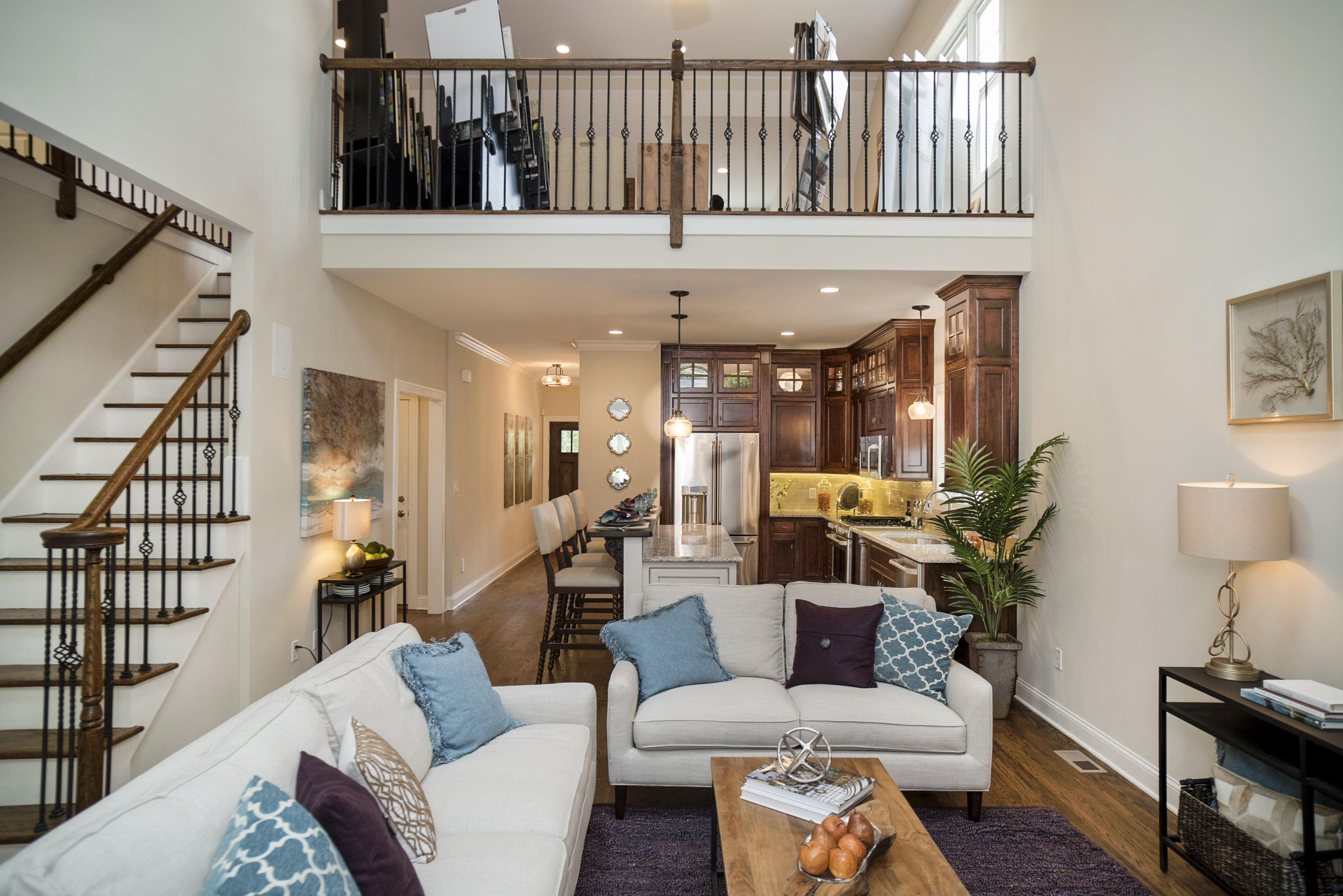 Open Floor Plan With 2nd Floor Balcony At Bolton Model Hillcrest