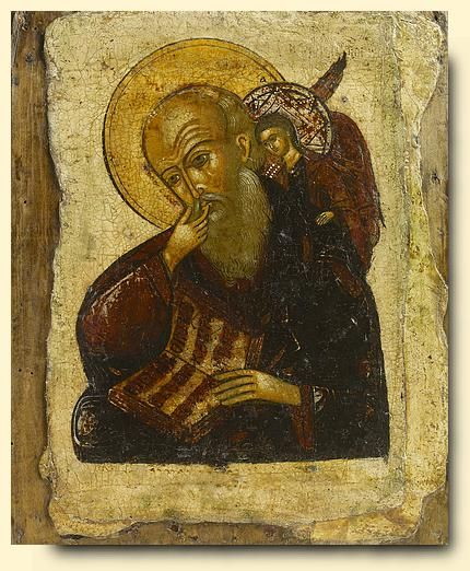 Saint John in Silence - exhibited at the Temple Gallery, specialists in Russian icons