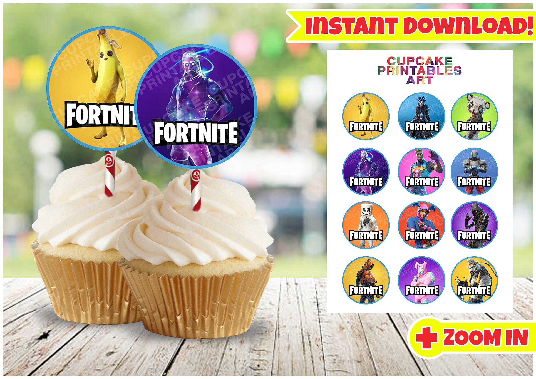 Fortnite Battle Royale Printable Cupcake Toppers Gamer Kids
