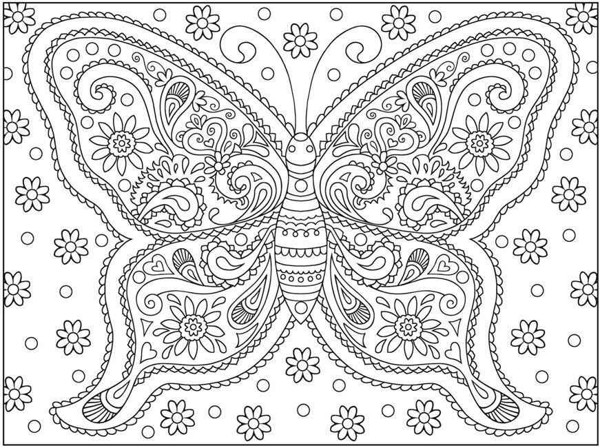 Butterfly Coloring Page Raskraski Mandala Cvetochnye Raskraski