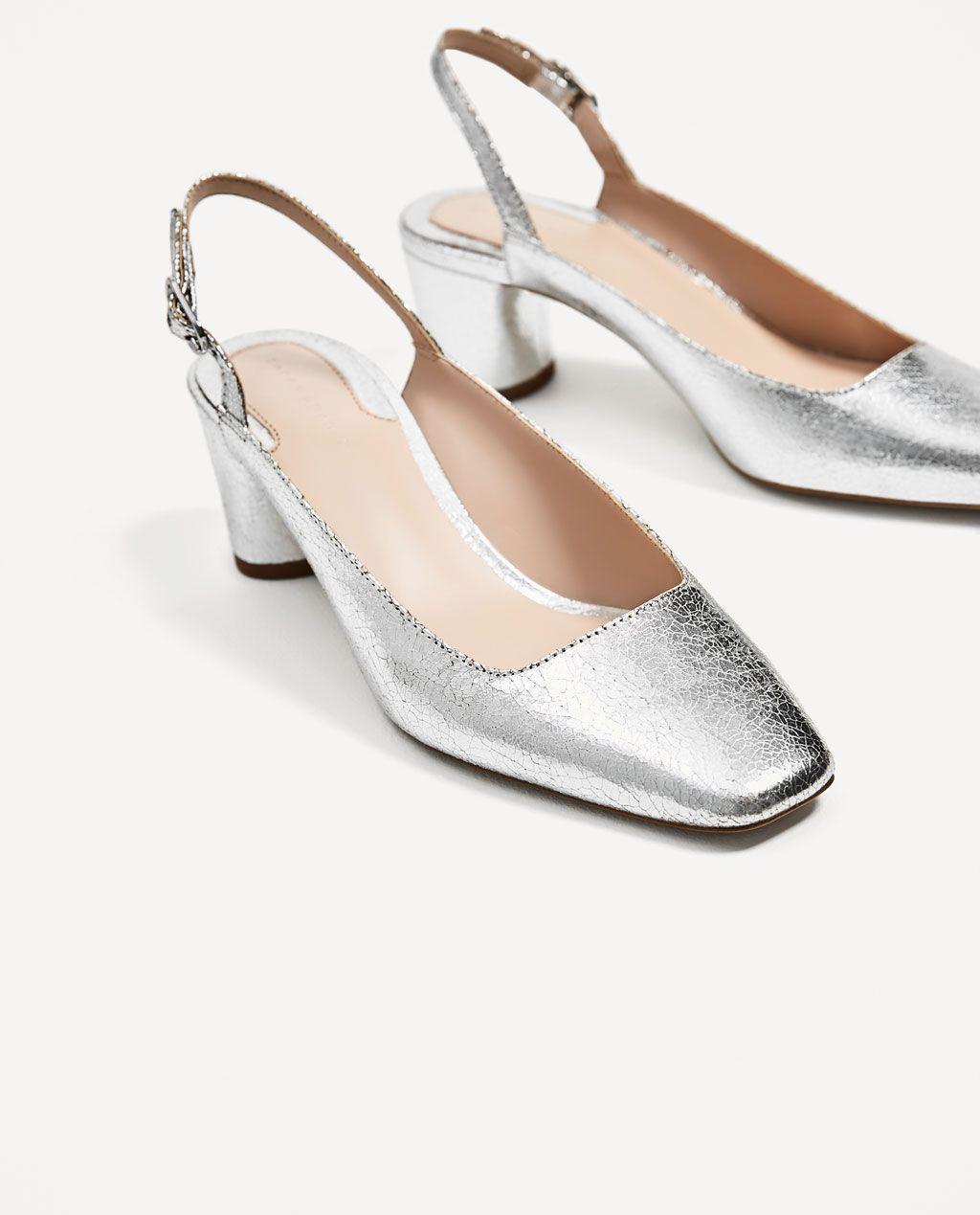 PlateadoN K Zapato ZaraZara E Medio Zapatos L O Tacón W HWD2E9IY