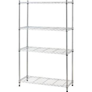 heavy duty 4 tier metal shelving unit from 45gbp