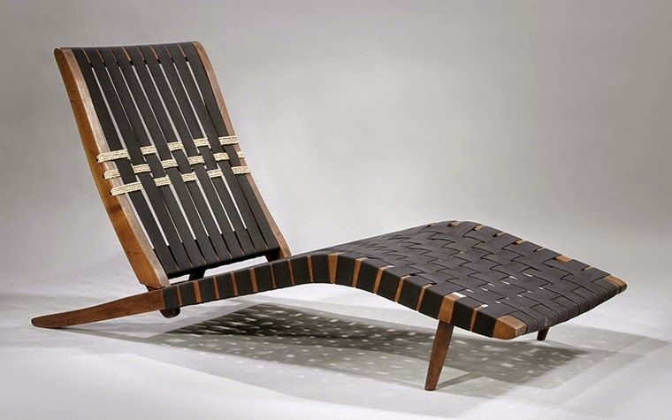 Wood Chaise By George Nakashima With