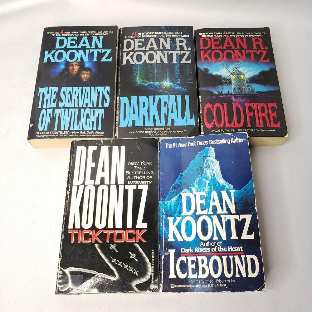 Vintage Dean Koontz Paperback Lot Of 5 Softback Books Books Dean Koontz Fiction Books To Read