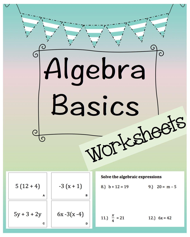 Algebra Basic Solving Equations Packet