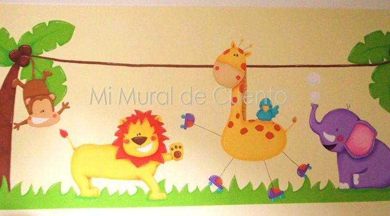 Murales Infantiles Animales De La Selva Imagui 123 Mural
