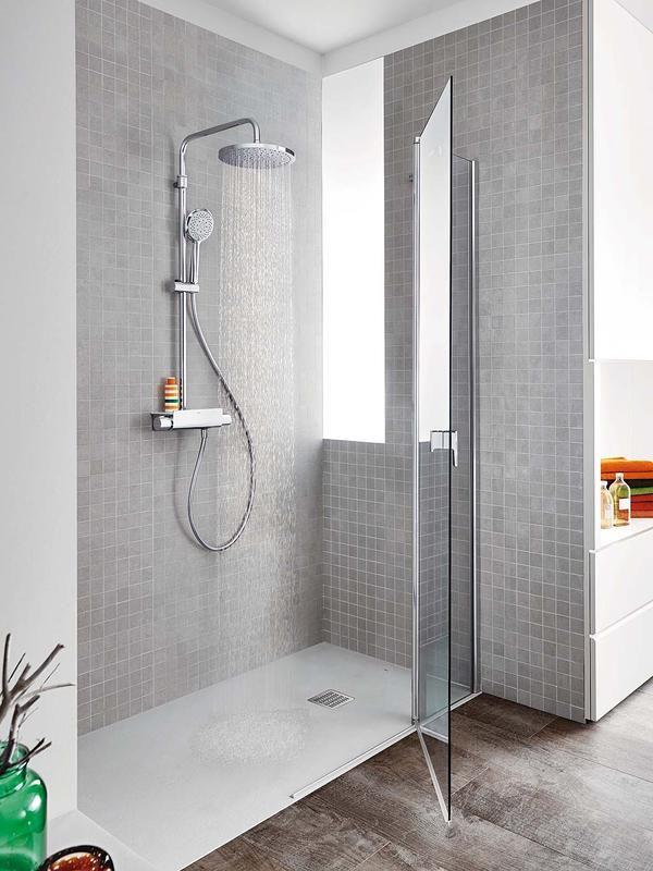 10 propuestas para actualizar tu ba o ducha blanca for Cuartos de bano en blanco y gris