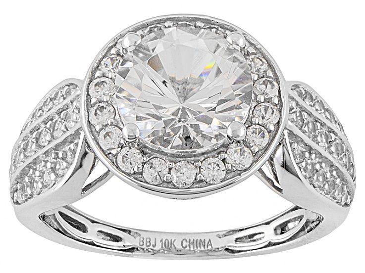 White Danburite 10k White Gold Ring 2 34ctw Rew036r White Gold Rings White Gold Gold Rings