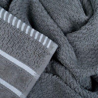 6pc Combed Cotton Bath Towels Sets Silver Yorkshire Home Bath