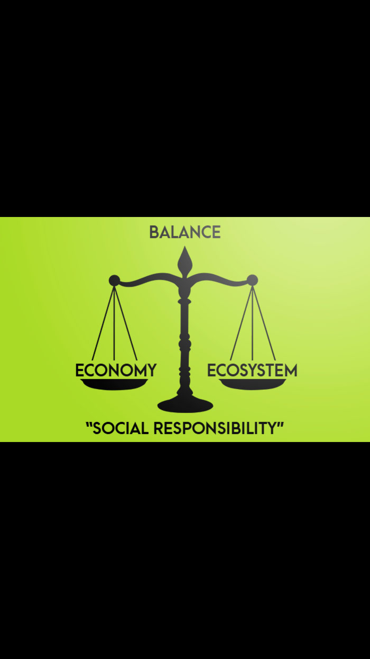 This shows that part of being socially responsible is a balance of economy & ecosystem.