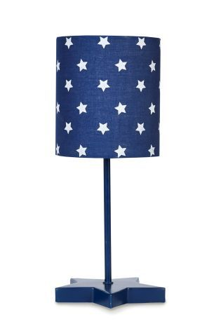 Navy Stars Led Table Lamp From The
