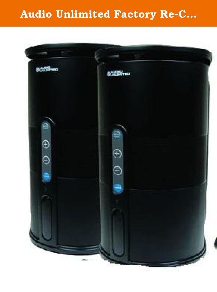 Audio Unlimited Factory Re Certified 900MHz Wireless Indoor Outdoor 2 Speakers