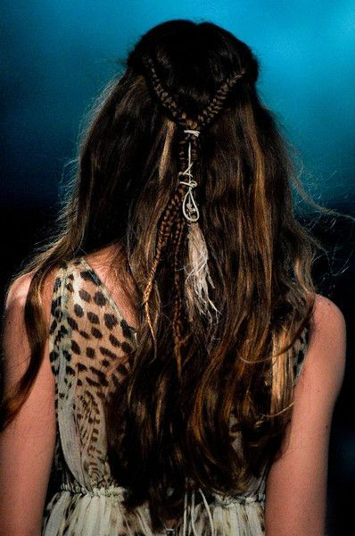 Just Cavalli Spring 2012 Details Boho Girl Hair Face Hair