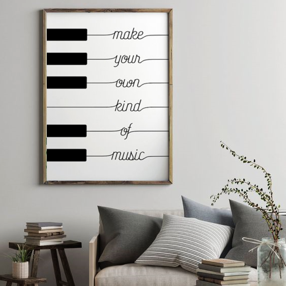 Make Your Own Kind Of Music Piano Art Print Piano Art Music Wall Art Piano Art Print