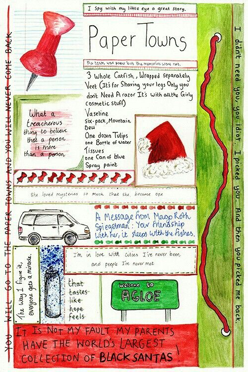 Paper Towns by John Green. This is really cool quote art. I like the idea of having students do this with favorite/meaningful quotes from literature we read.