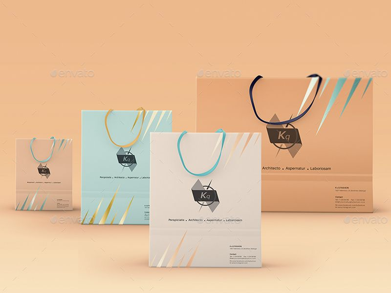 Download Shopping Bag Paper Bag With Rope Handles Mockups Rope Handles Paper Bag Bag Mockup