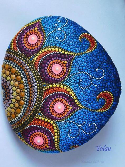 Mandalas In 2020 Mandala Rock Art Dot Art Painting Rock Painting Art