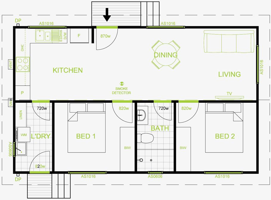 granny flat plan 60 square meters - Google Search ~ http ...